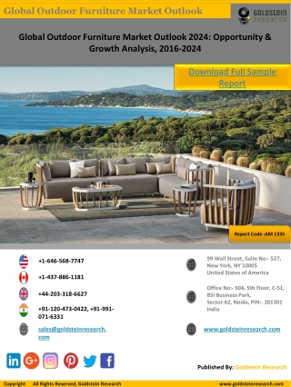Outdoor Furniture Industry Statistics & Market Research-Sample