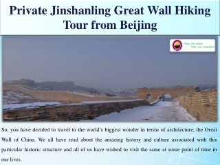 Private Jinshanling Great Wall Hiking Tour from Beijing