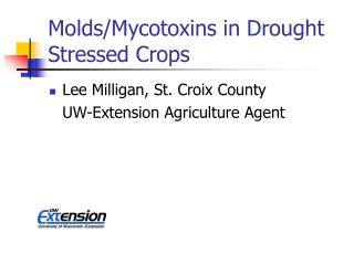 Molds/Mycotoxins in Drought Stressed Crops