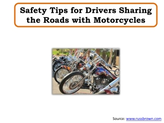 Safety Tips for Drivers Sharing the Roads with Motorcycles
