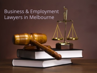 Business & Employment Lawyers in Melbourne