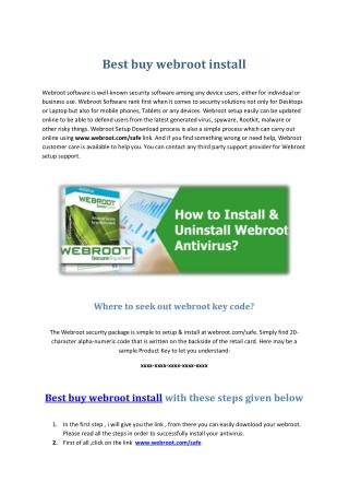 best buy webroot install