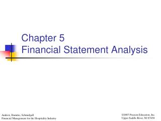 Chapter 5 Financial Statement Analysis