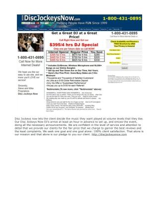 Disc Jockeys Now Reviews