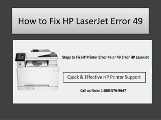 Fix HP LaserJet Error 49