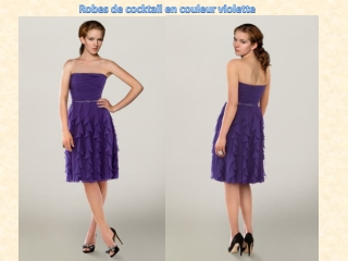 Robes de cocktail en couleur violette