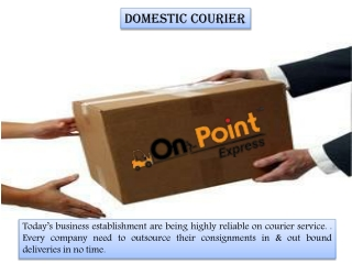 Domestic Courier Services | On Point Express