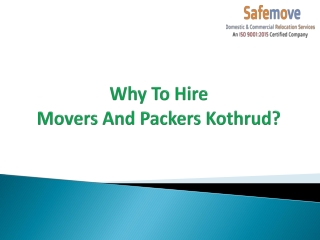 Movers And Packers Kothrud