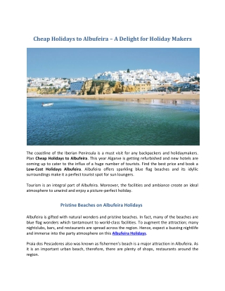 Cheap Holidays to Albufeira   Albufeira Holdidays 2019   Search A Holiday