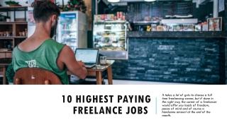 Best High Paying Freelance Jobs