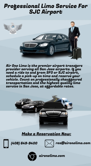 Professional Limo Service for SJC Airport