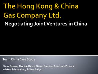 The Hong Kong & China Gas Company Ltd.