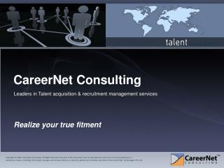 Personalized career services & solutions by CareerNet