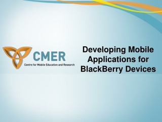 BlackBerry, Developing Mobile Applications