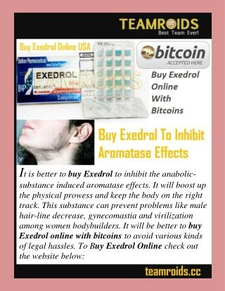 Buy Exedrol To Inhibit Aromatase Effects
