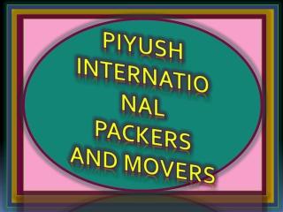 Piyush Packers and Movers Panchkula