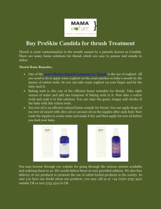 Buy ProSkin Candida for thrush Treatment
