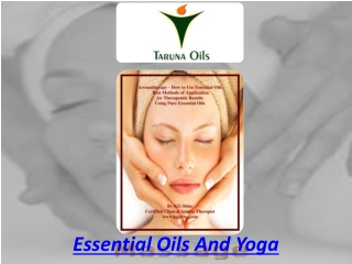 Essential oils and yoga