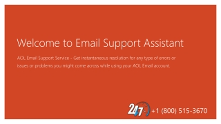 AOL Email Support - Email Support Assistant