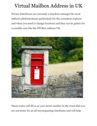 Virtual Mailbox Address in UK