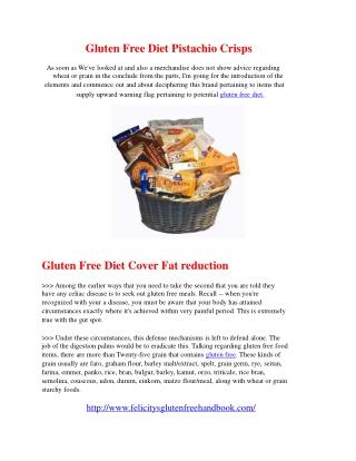 Gluten Free Diet Pistachio Crisps