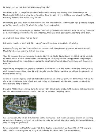 Mizuki Park Binh Chanh SaleReal đang khuấy động bất động sản theo cách nào?