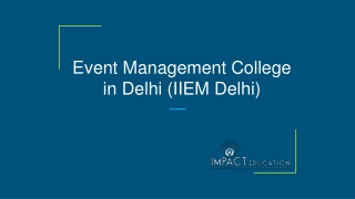 Best Institute for mba in event management in Delhi