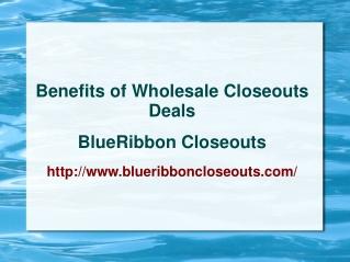 Benefits of Wholesale closeouts Deals