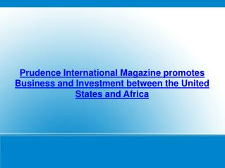 Prudence International Magazine