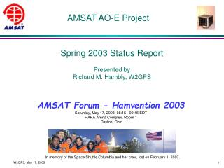 AMSAT AO-E Project