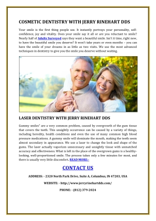 COSMETIC DENTISTRY WITH JERRY RINEHART DDS