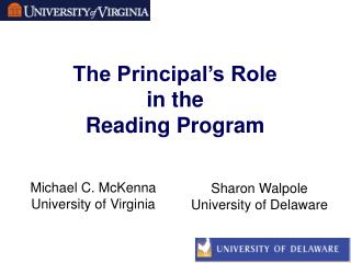 The Principal's Role  in the  Reading Program