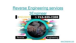 Reverse Engineering Services _ 3Engineer