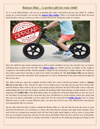 Balance Bike – A perfect gift for your child!