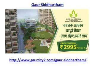 Gaur Siddhartham Ghaziabad Housing Complex