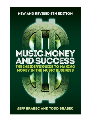 [PDF] Music Money and Success 8th Edition by Brabec, Jeff & Brabec, Todd