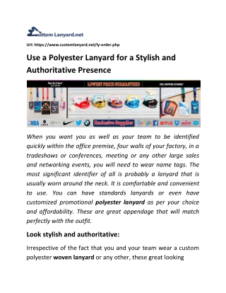 Use a Polyester Lanyard for a Stylish and Authoritative Presence
