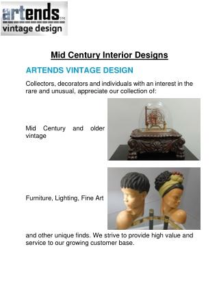 Mid Century Interior Designs