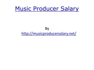 Music Producer Salary