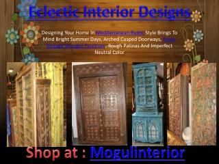 Eclectic Rustic interior designs