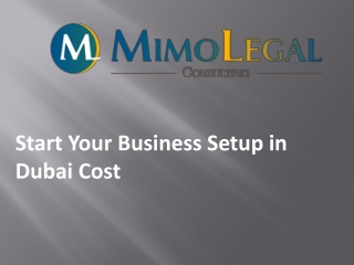 Start Your Business Setup in Dubai Cost