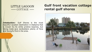 Gulf front vacation cottage rental gulf shores