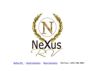Used Motorhomes and RVs from NeXus RV