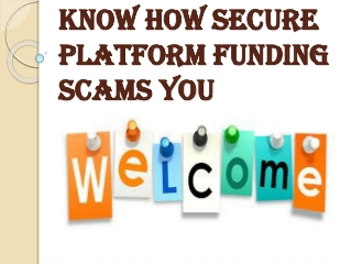Beware of Bruce Green, CEO of the Secure Platform Funding