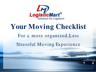 Your Moving Checklist for a more Organized, Less Stressful Moving Experience in Pune City