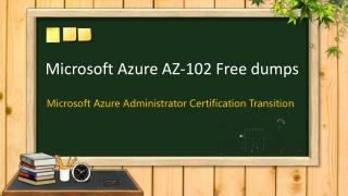 Passed Microsoft AZ-102 exam