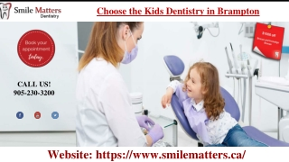 Select the Kids Dentistry Brampton