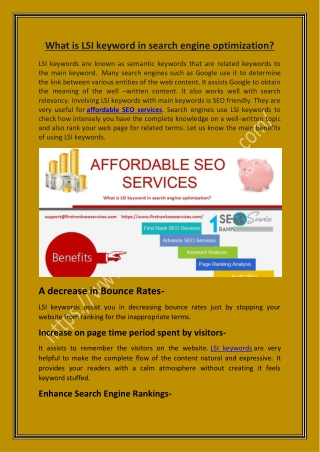 What is LSI keyword in search engine optimization?