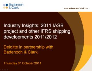 IFRS developments for the shipping sector