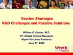 Vaccine Shortages  RD Challenges and Possible Solutions